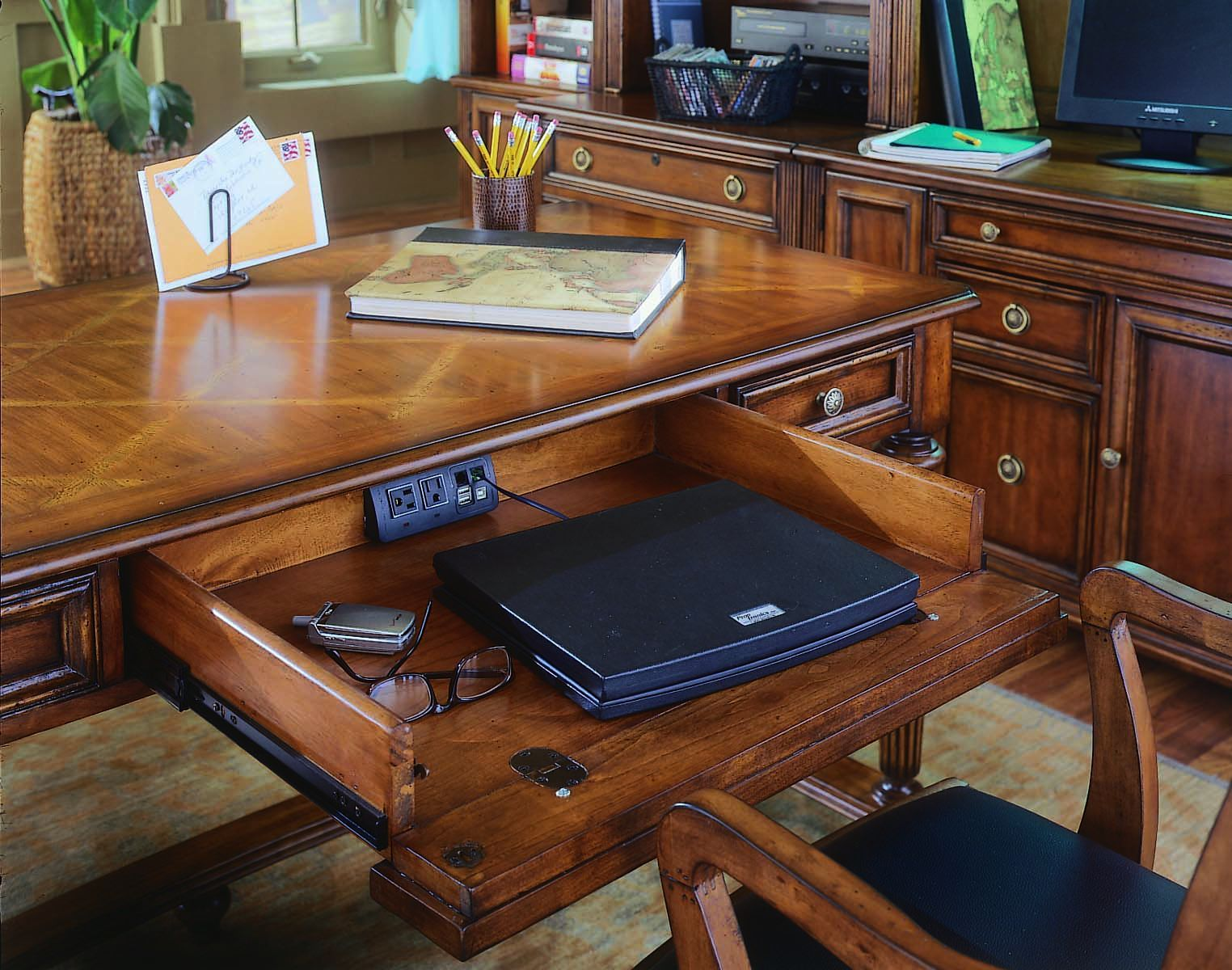 Pedestal desk leg ideas | Hooker Furniture Home Office Leg Desk 281-10-458 - Furniture Solution ...