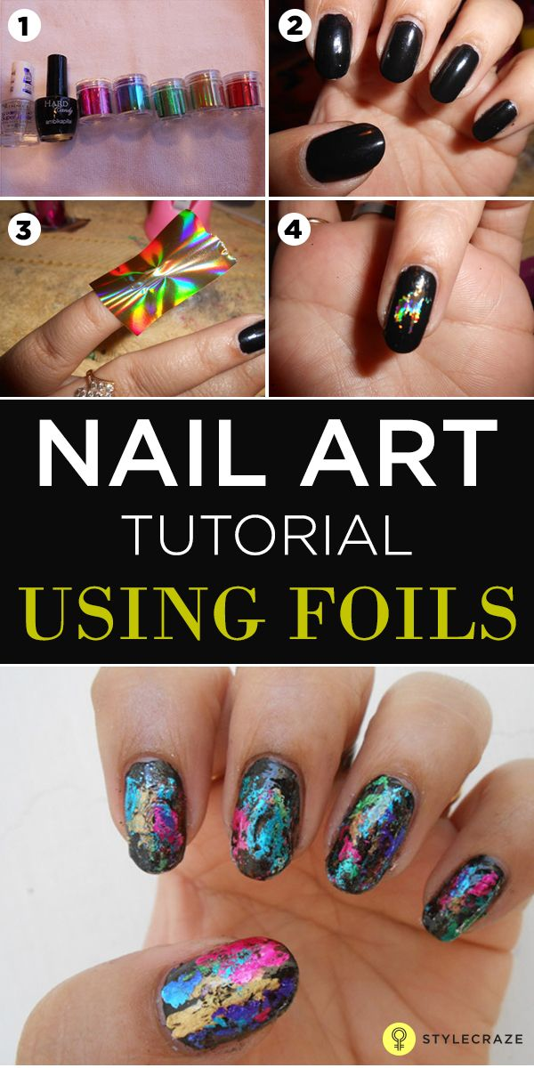 Top 60 Easy Nail Designs For Short Nails - 2018 Update | Nail foil ...