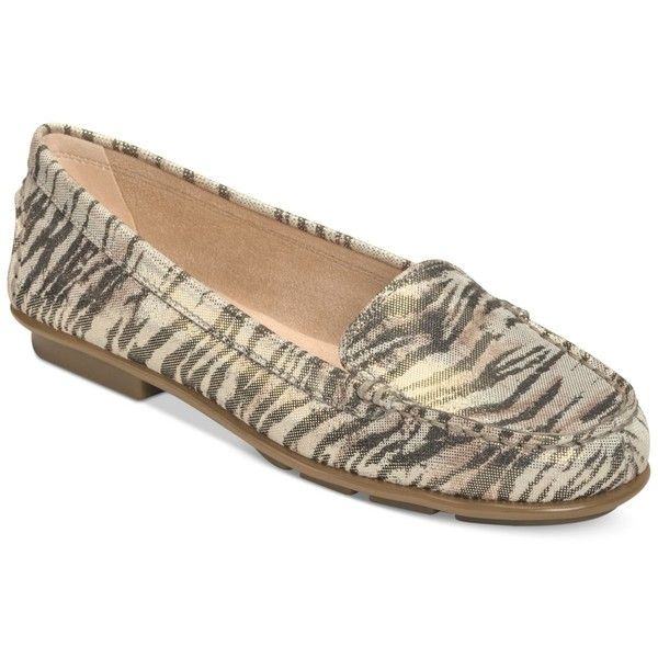 Aerosoles Nu Day Flats Women's Shoes featuring polyvore fashion shoes flats tiger tiger print shoes flexible sole shoes shiny shoes tiger stripe shoes tiger shoes