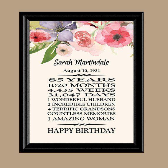 85th Birthday Gift 1933 Grandma Printable 85