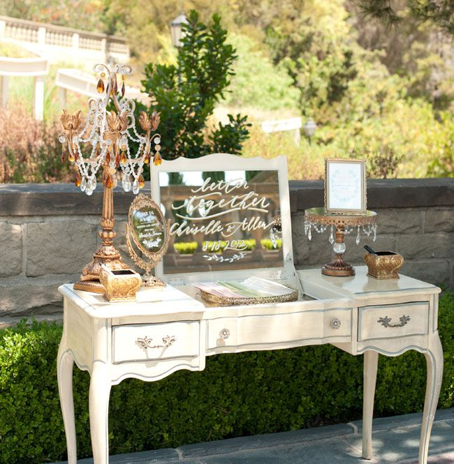 Ideas For Wedding Guest Sign In: VANITY GUEST SIGN IN TABLE-PAPERMADE DESIGN CALLIGRAPHY