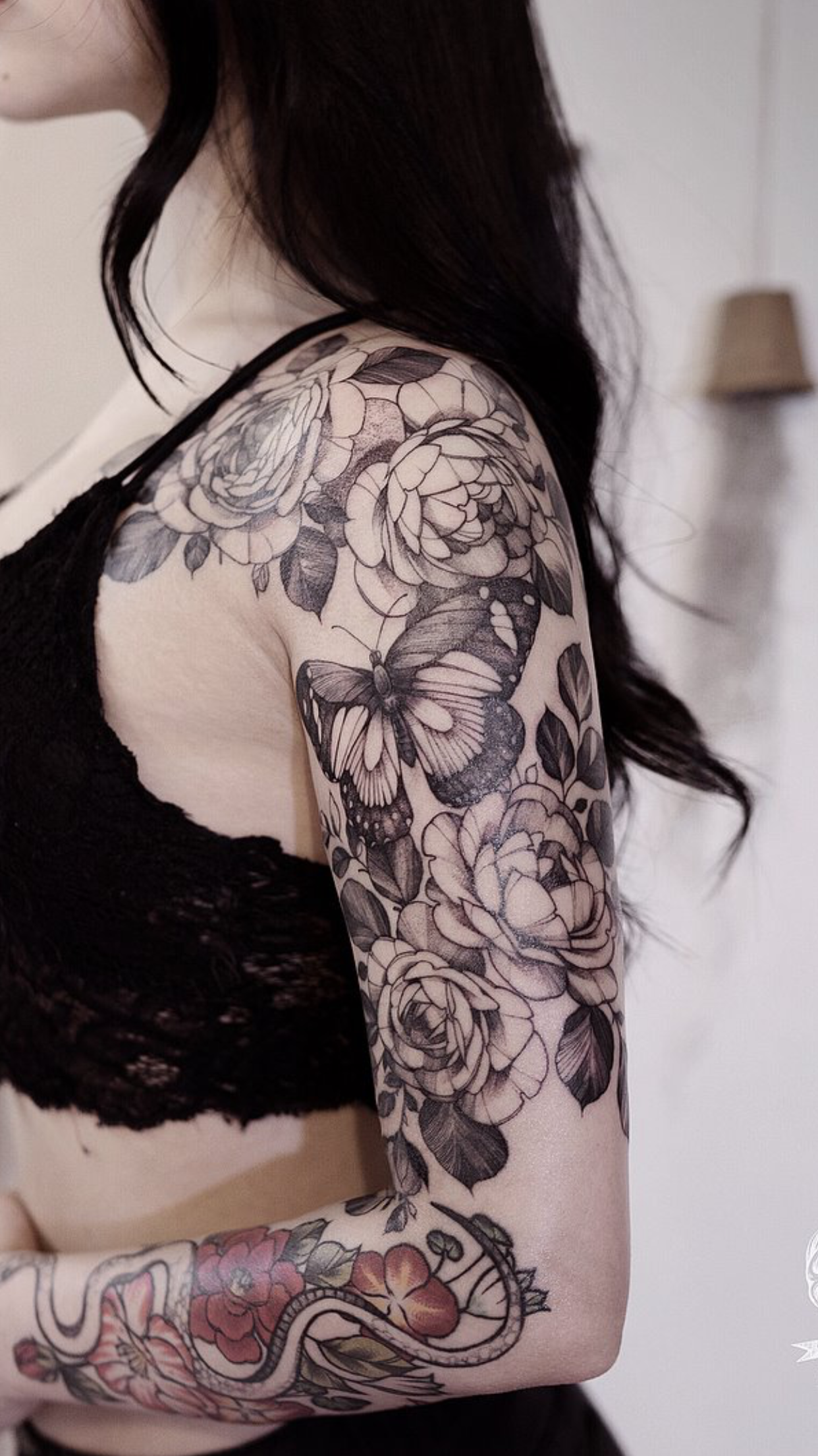Pin by Terri Ogden on tatoo Butterfly sleeve tattoo