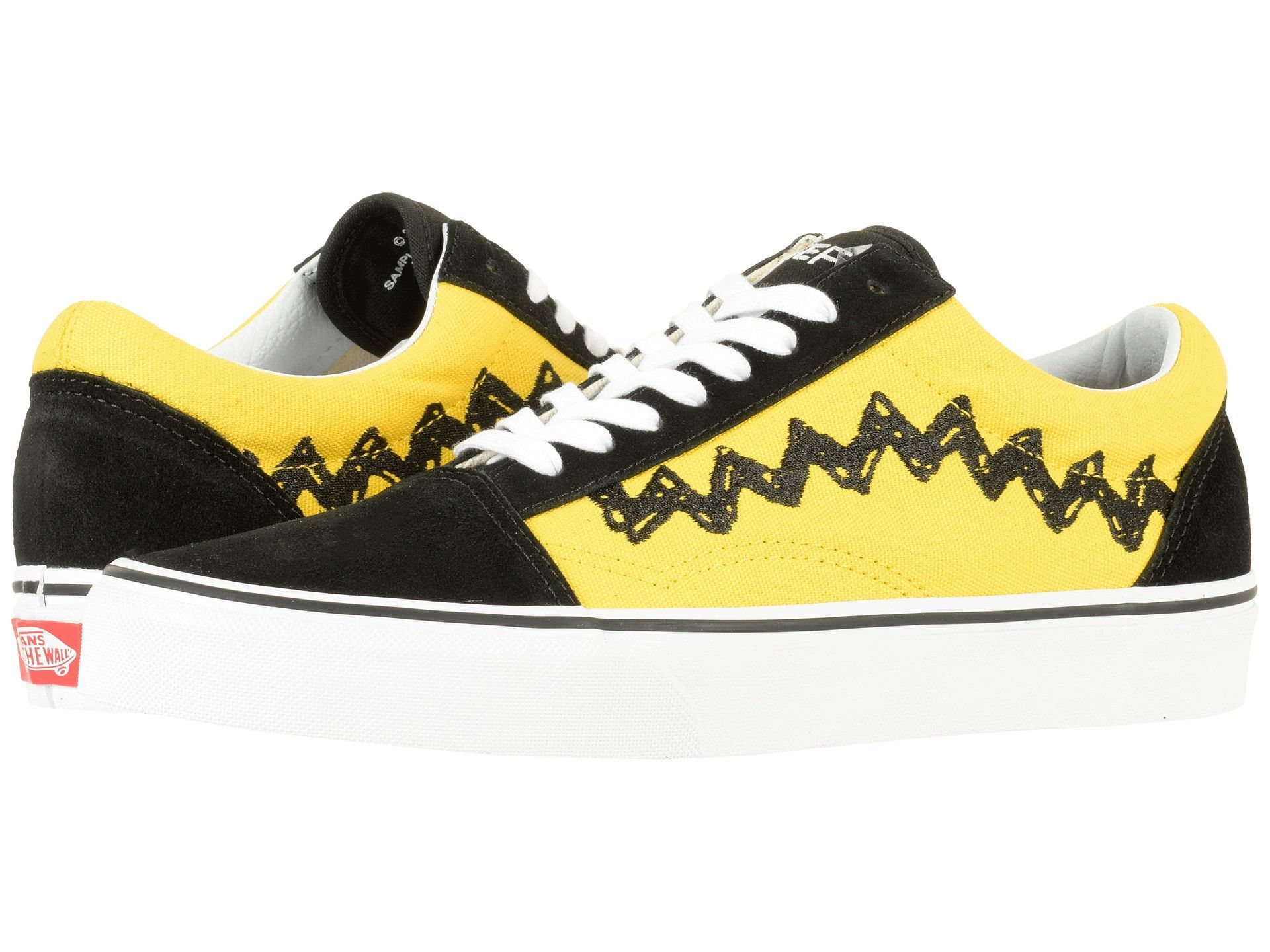 Vans Old Skool Peanuts in Charlie Brown & Black from