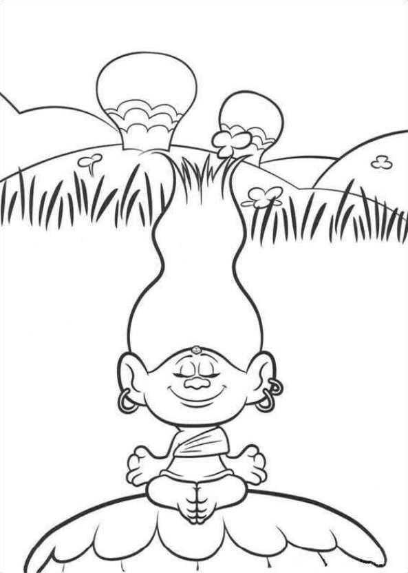 pop troll coloring pages - photo#22