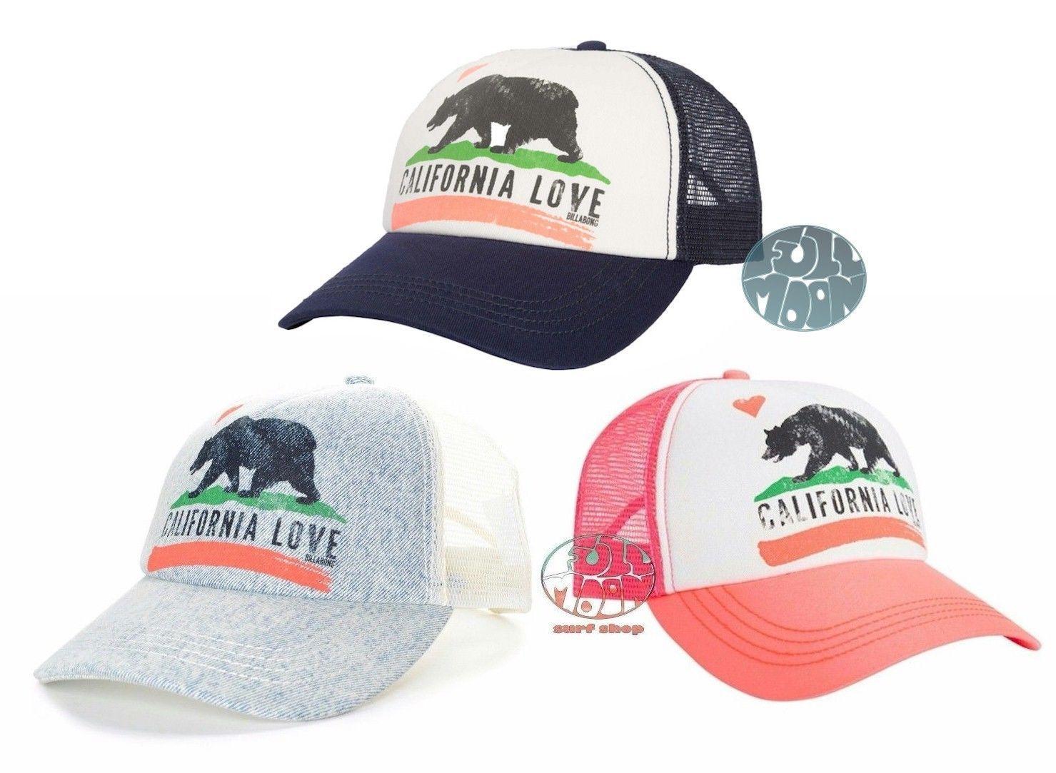 8650387a1d0b87 Billabong Women'S Pitstop California Love Mesh Snapback Trucker Hat Cap
