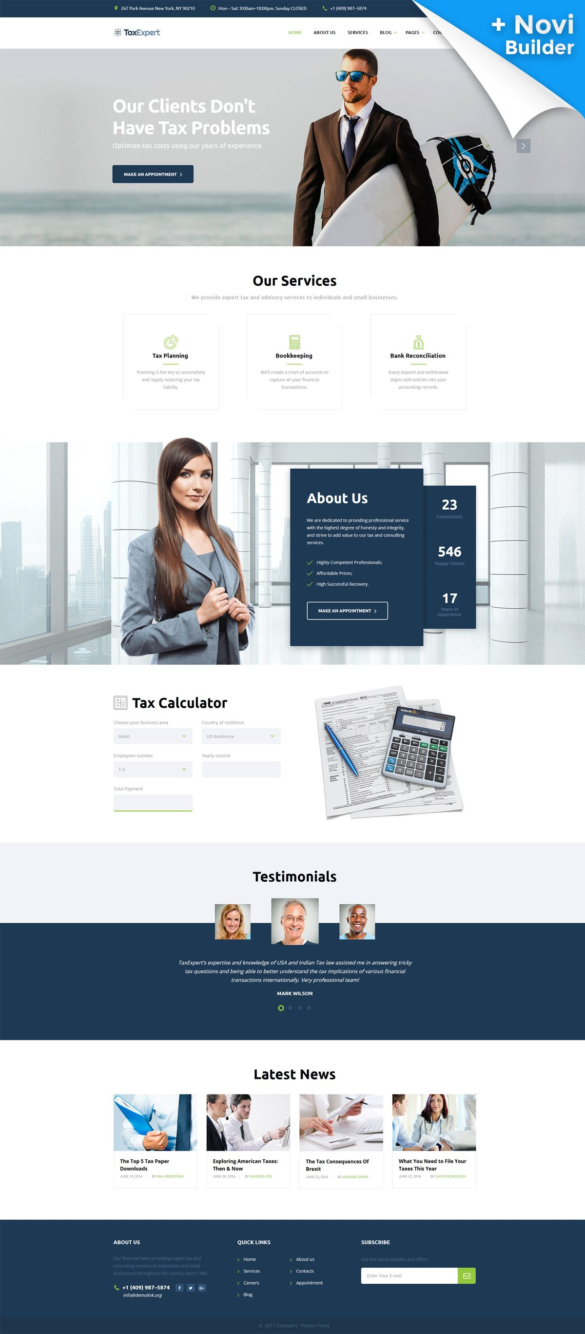 Tax Advisor Financial Consultant Website Template New Website - Tax website templates