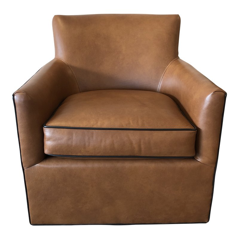 Zander Leather Swivel Chair By Leathercraft Leather Swivel Chair