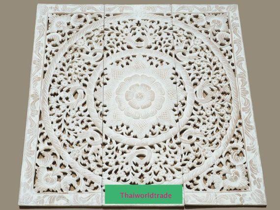 Wunderbar Weißen Teak Holz Natürliche Bett Kopfteil 36 3ft Von Thaiworldtrade