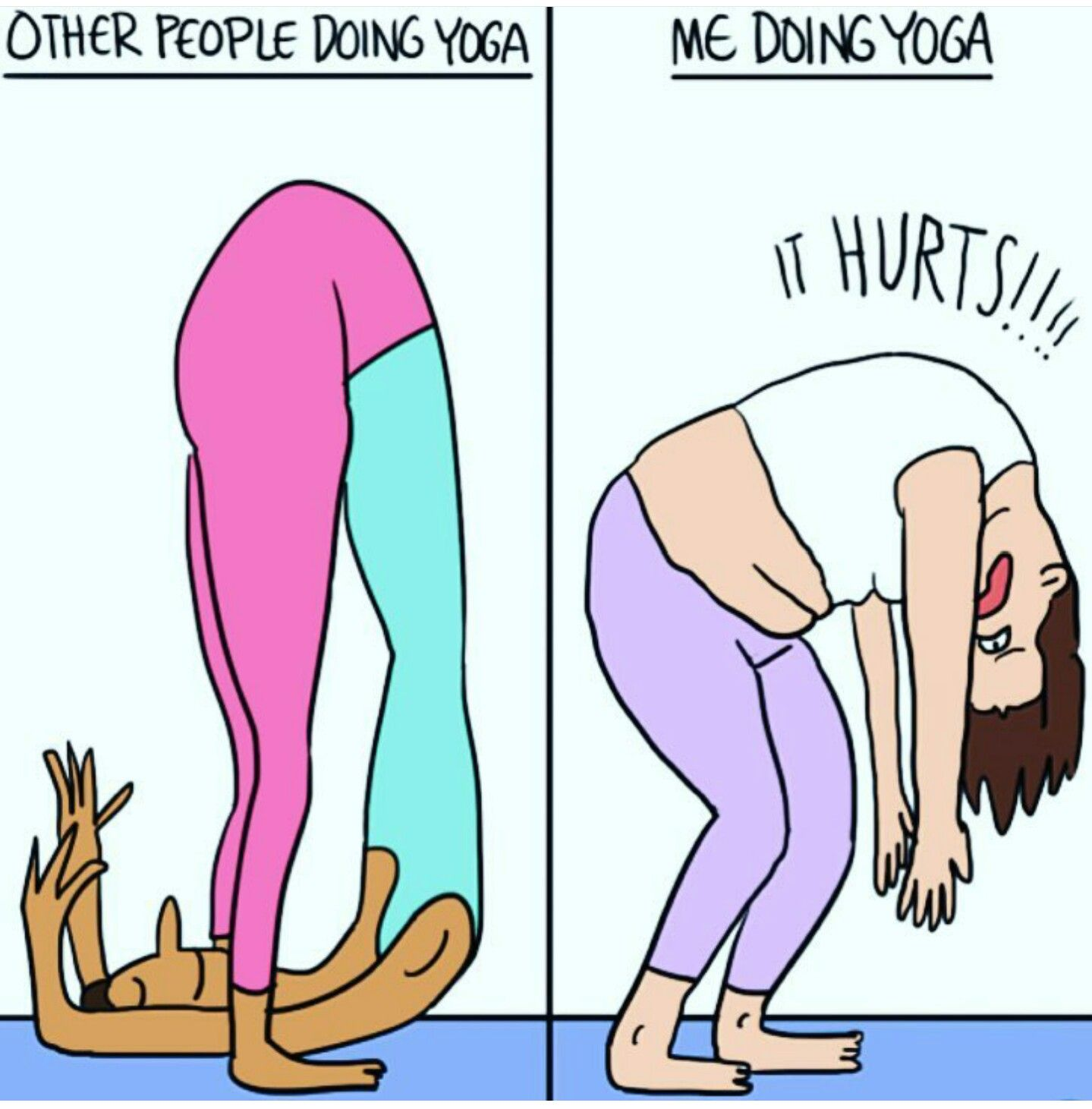 Funny Yoga Cartoon Yoga Quotes Funny Yoga Funny Funny Yoga Memes