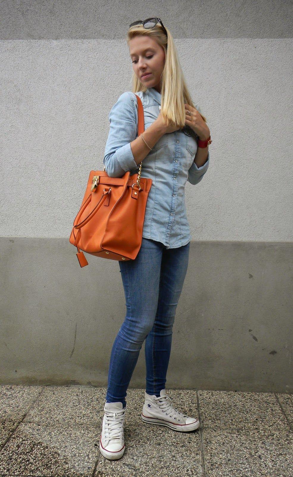 Women 39 S Light Blue Denim Shirt Blue Skinny Jeans White