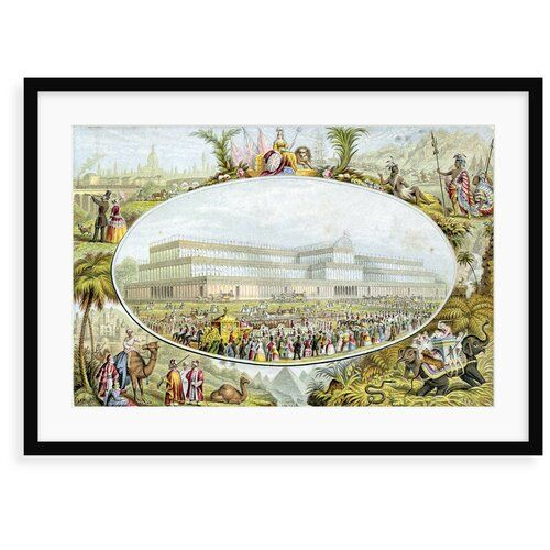 Photo of Grafikdruck Queen Victoria Arriving to Open the Great Exhibition at the Crystal Palace, London, 1851 von Trompf World Menagerie Format: Gerahmtes Papier, Größe: 70 cm H x 100 cm B x 2,3 cm T