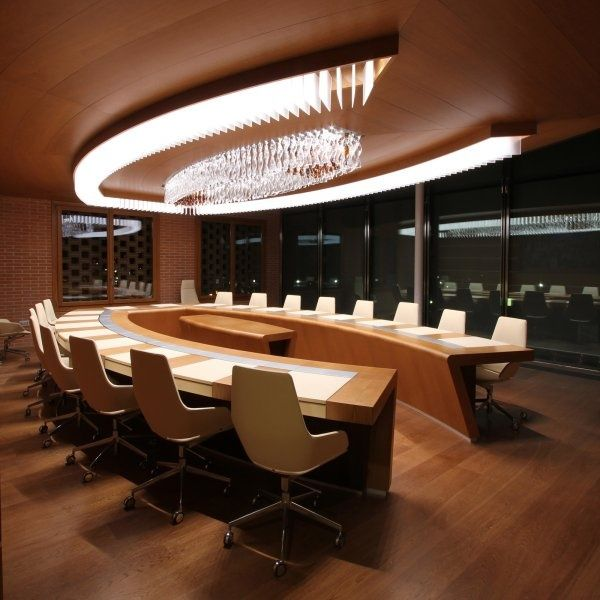 24 Luxury And Modern Home Office Designs: Pin By Qatrunnada Alias On Conference Table