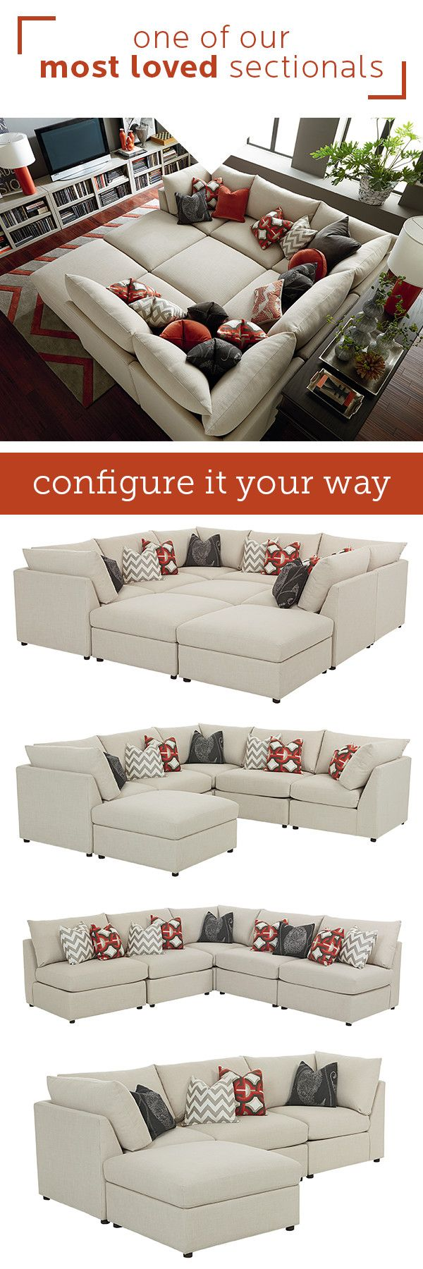 A Transitional Modular Sectional With Endless Possibilities. Beckham Has  Limited Skus But Can Transform Into