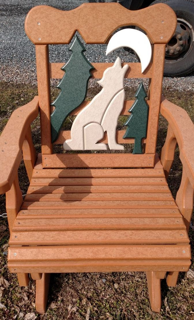 Coyote Poly Lumber Swivel Glider Chair The Pieces Is Mennonite