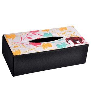 Tissue Box Floral Elephant