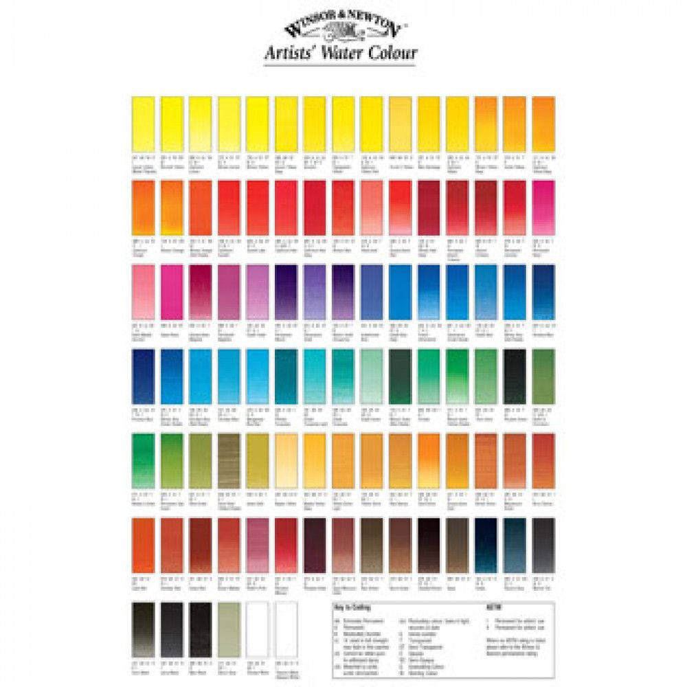 Winsor Newton Professional Watercolour Hand Painted Colour
