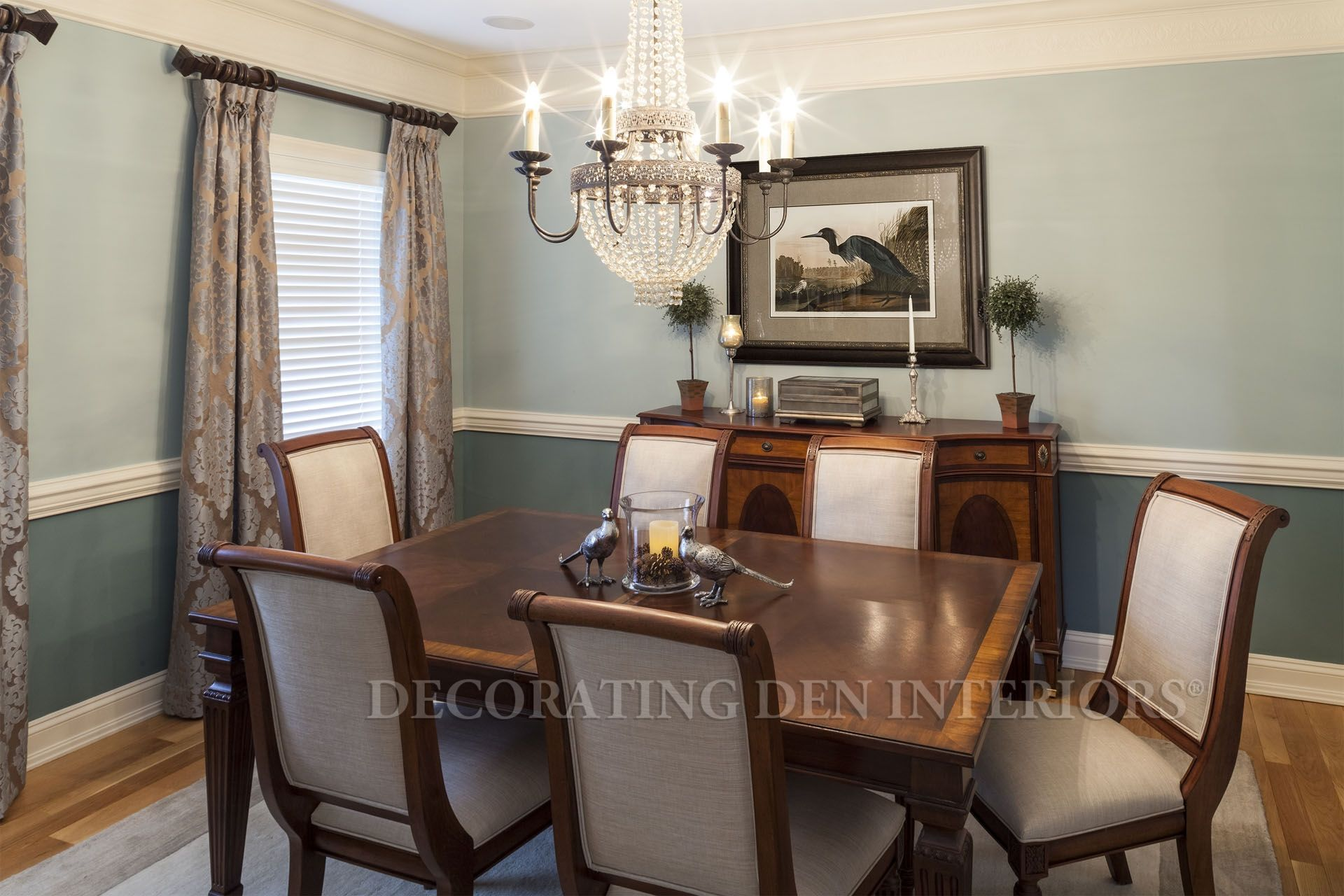 I Created Classic Design With Subtle Color For This Dining Room Make Over The