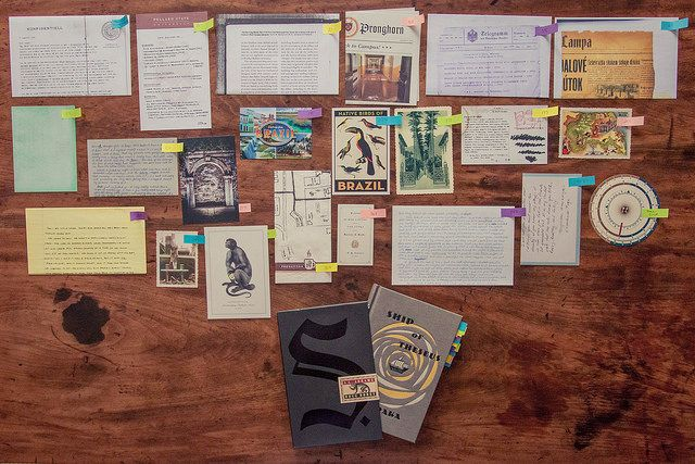 More extended set of all the inserts. Again, really cool idea.  S. A book by JJ Abrams and Doug Dorst.