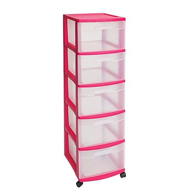 Organize And De Clutter Your Life With This Convenient Sterilite  Drawer Pink