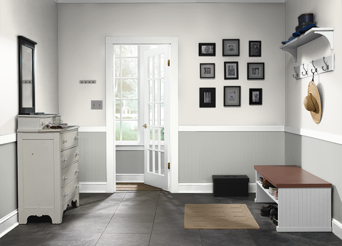 Behr weathered white upw weathered moss