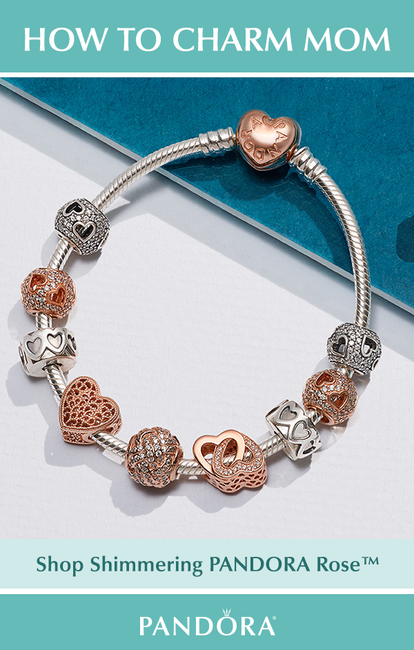 8c340afe8 Shimmering PANDORA Rose™ Charms are the perfect addition to mom's bracelet.  Elaborate detailed patterns, shimmering love knots and entwined hearts are  just ...