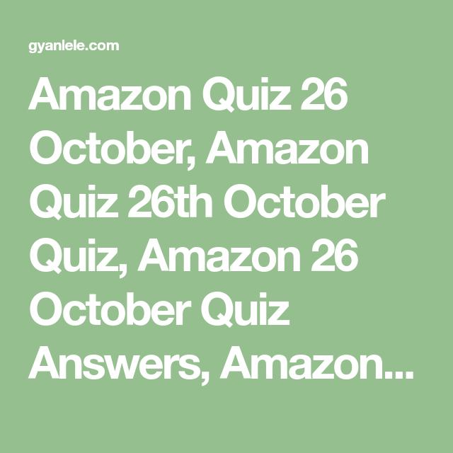 Amazon Quiz 26 October Amazon Quiz 26th October Quiz Amazon 26 October Quiz Answers Amazon Quiz Answe Fender Acoustic Guitar Fender Acoustic Acoustic Guitar