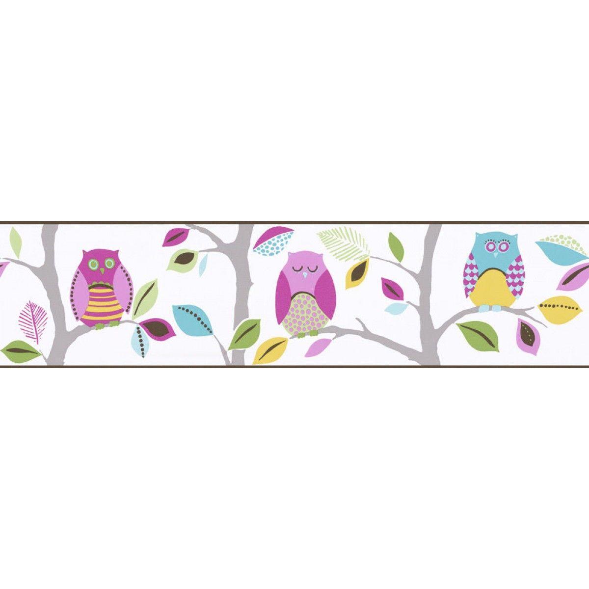 Bright Owls Self Adhesive Wallpaper Border Self Adhesive Wallpaper Self Adhesive Wallpaper Borders Wallpaper Border