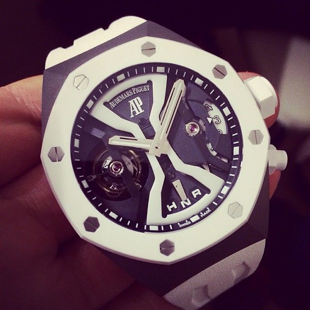 Audemars Piguet Royal Oak Concept Gmt Tourbillon In White Ceramic