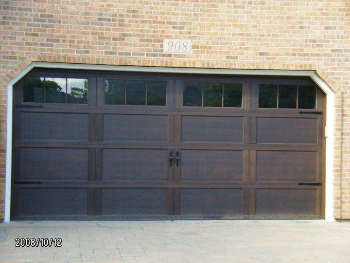 Wayne Dalton Semi Custom Steel Carriage House Door Model 9700 Faux Finished Walnut Color Carriage House Doors Garage Door Windows Wayne Dalton Garage Doors