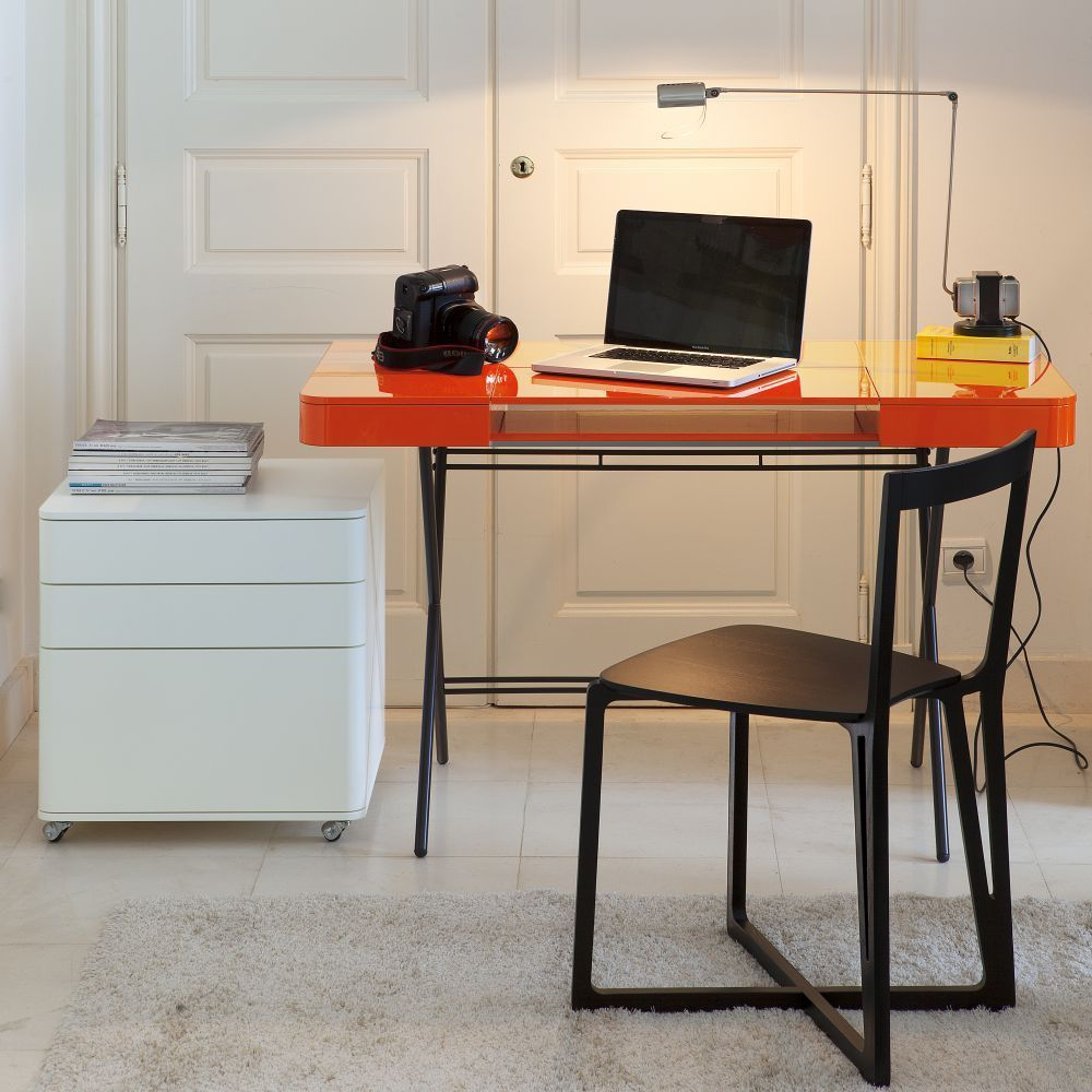 Adentro Cosimo Desk Orange 3 With HEAD Chair Minimalist Chair Design  Ingeniously Crafted In Northern Italy
