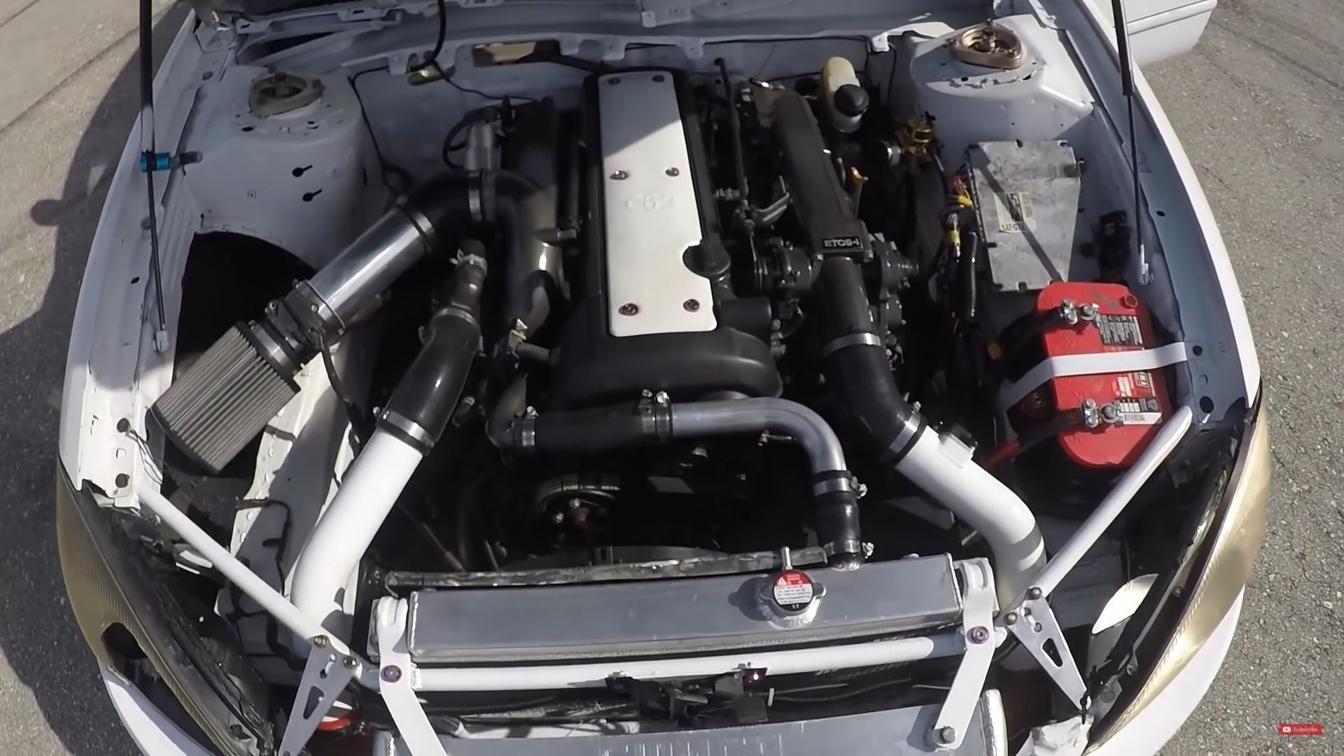 Someone Seriously Crammed A Toyota Supra 1jz Into A Freaking Ford