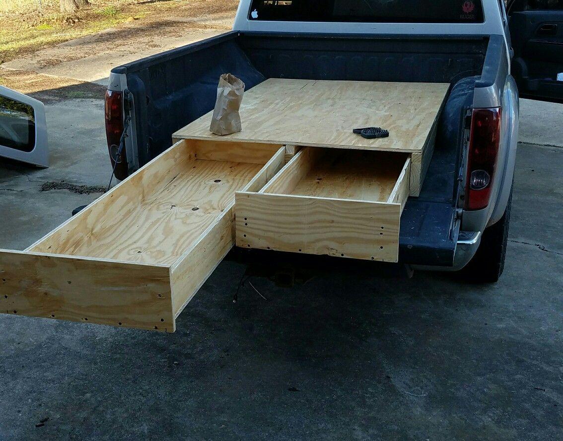Diy Storage Drawers In Truck Bed Truck Bed Storage Diy Truck