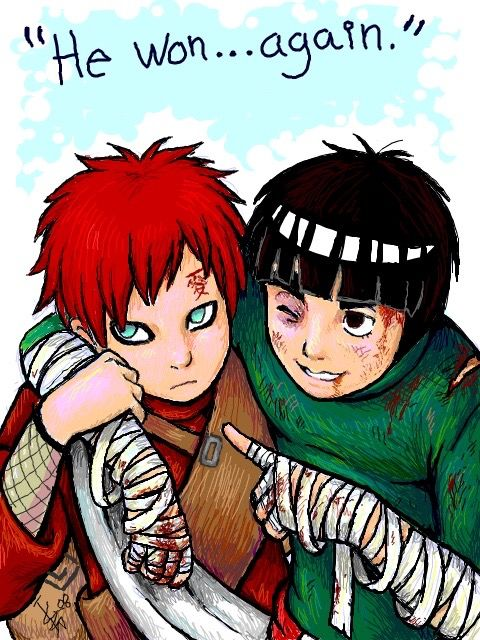This is my favourite ship - Gaara x Lee | Naruto | Naruto ... Gaara And Lee