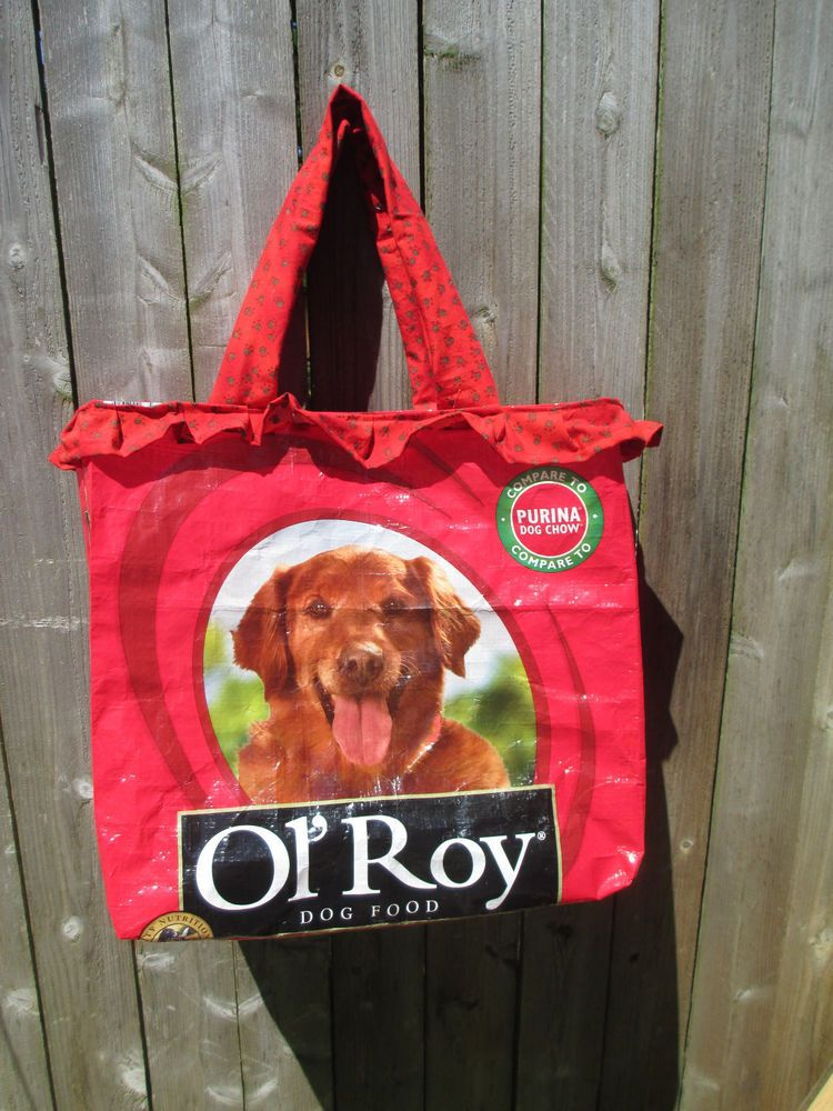 Eco Friendly Recycled Dog Food Bag Ol Roy Market Tote