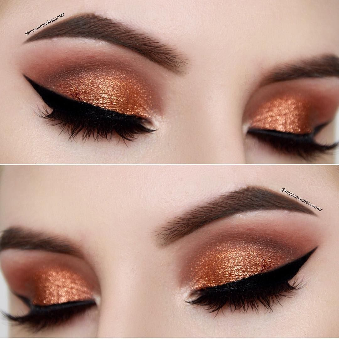 Another look at my copper makeup tutorial hit the link in my instagram bio to watch itProducts used: ✨ @anastasiabeverlyhills Dipbrow Pomade in Medium Brown ✨ @darkswanofdenmark Lashes in Adore ✨ @maccosmetics Pigment in Copper Sparkle ✨ @makeupgeekcosmetics eyeshadows in: Peach Smoothie, Mocha, Cocoa Bear ,Créme Brulée, Shimma Shimma, Americano & Corrupt @eyeko Black Magic eyeliner & Fat Brush mascara #eotd #makeup #makeupobsessed #makeupgeek #hudabeauty #makeupslaves #coppersparkle #mi...