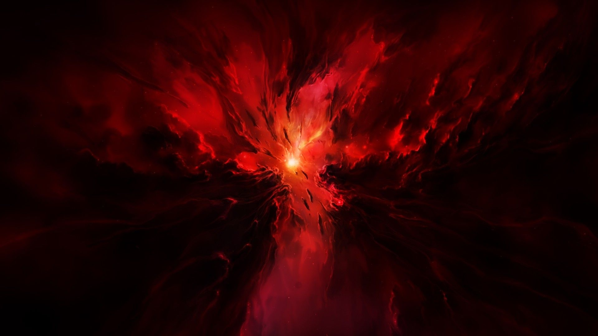 Space Wallpaper 1920X1080 Red Hd Cool 7 HD Wallpapers