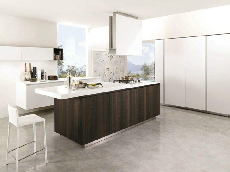 Aménager une cuisine design avec ilot central