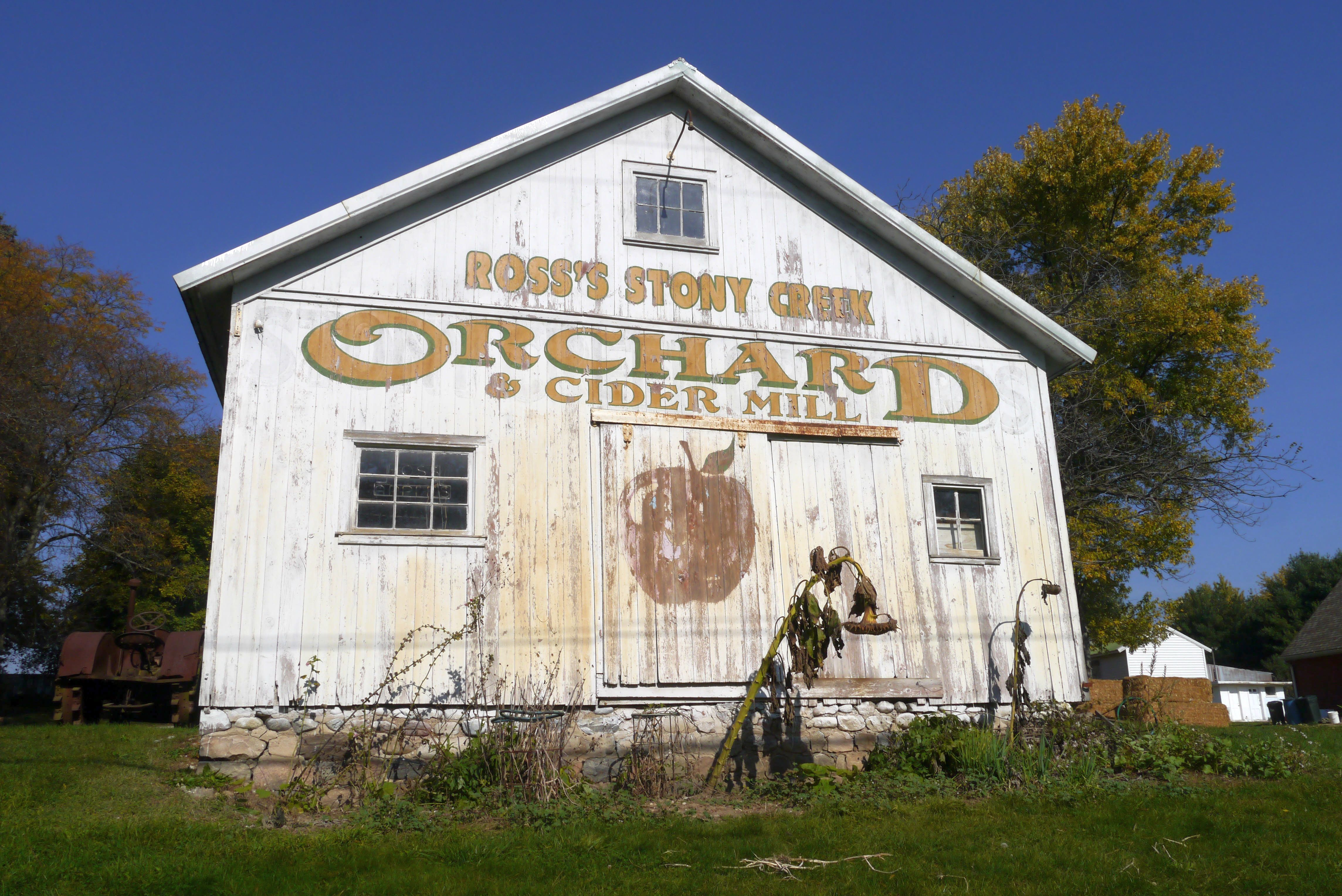 Stony Creek Orchard & Cider Mill, 2961 32 Mile Rd., Bruce