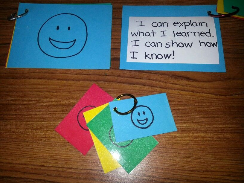 My self-evaluation cards that I use in my 1st grade classgood