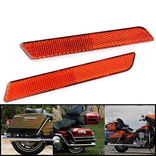 Saddlebag Latch Cover Reflector Red Harley Davidson Hard Bag Touring Road Glide