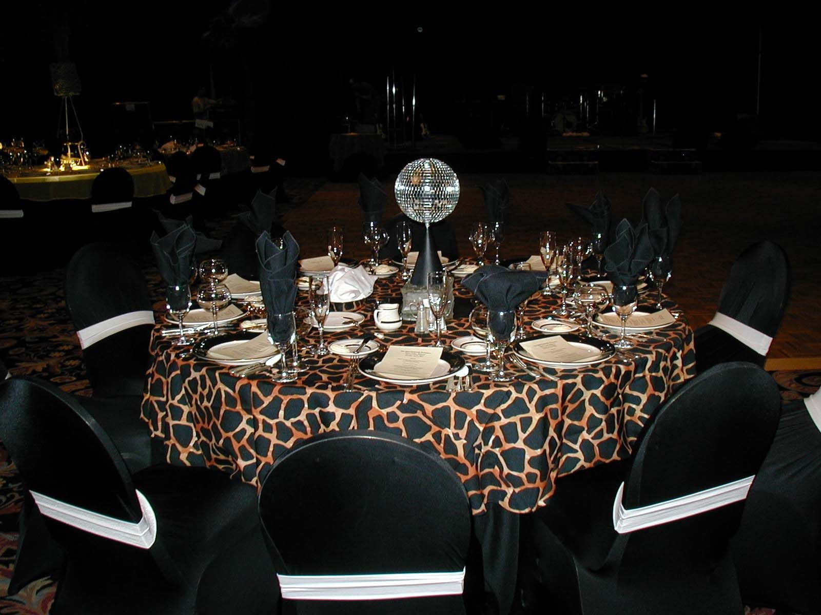 Cheetah print party theme posh design linen party for Animal print party decoration ideas