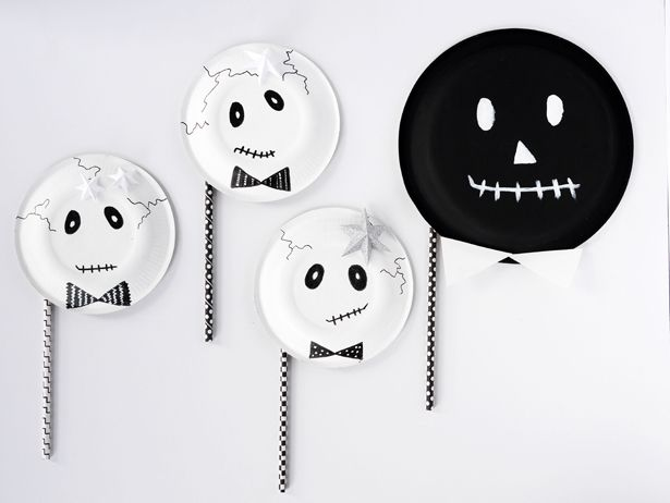 EASY DIY SKELETON PAPER PLATE MASKS & EASY DIY SKELETON PAPER PLATE MASKS | Paper plate masks DIY ...