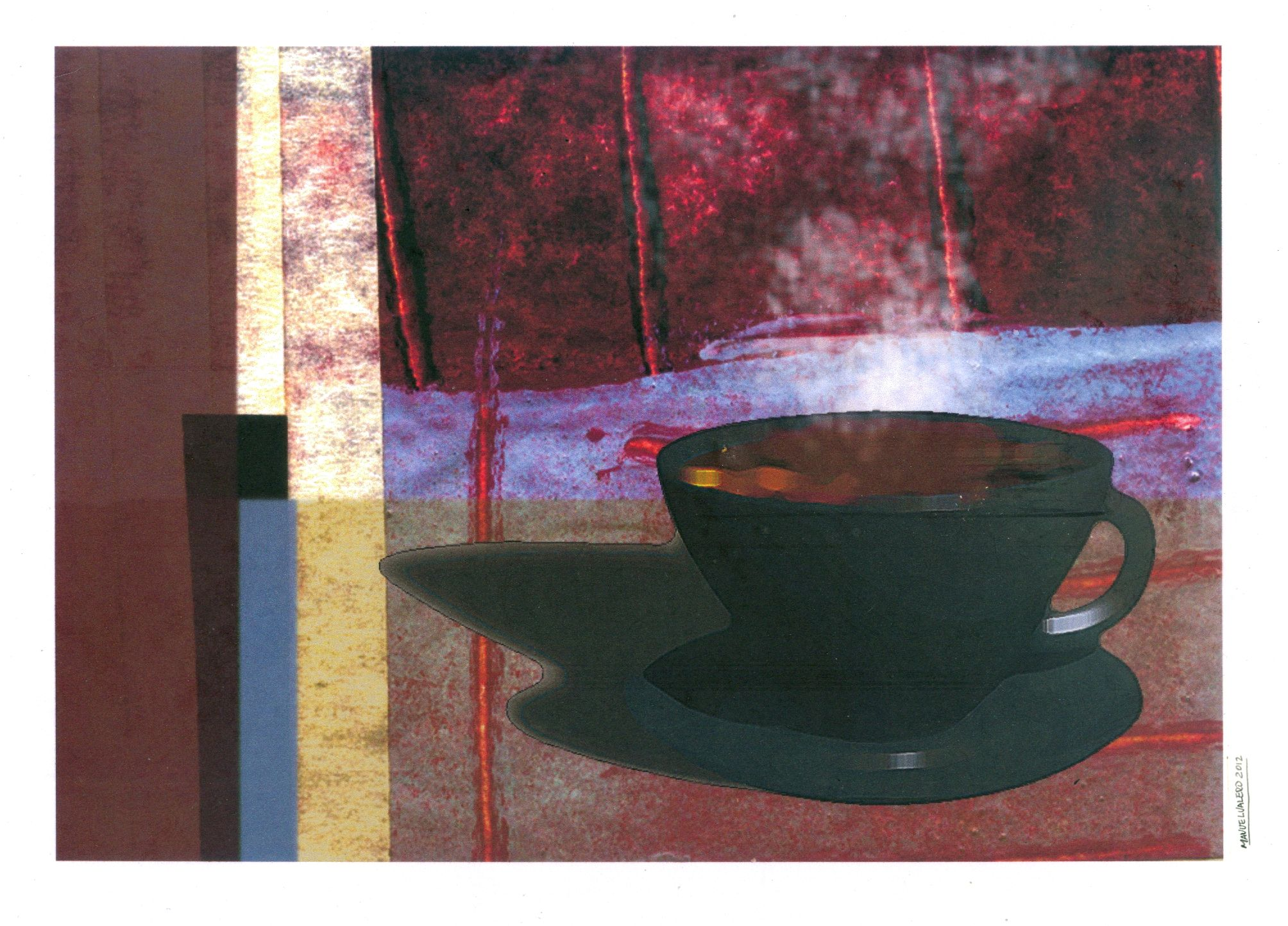 #30DayDrawingChallenge - Day26: Something i don't like : Black coffee with no sugar - Dibujo/Collage/Técnica Mixta