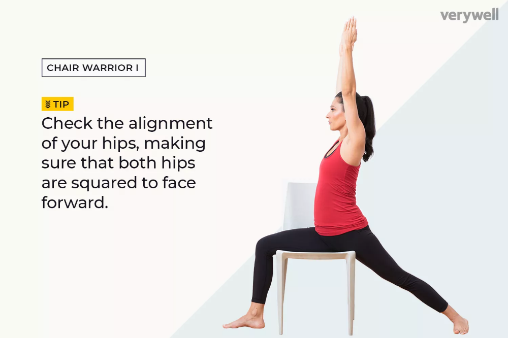 10 Chair Yoga Poses for Home Practice Chair pose yoga