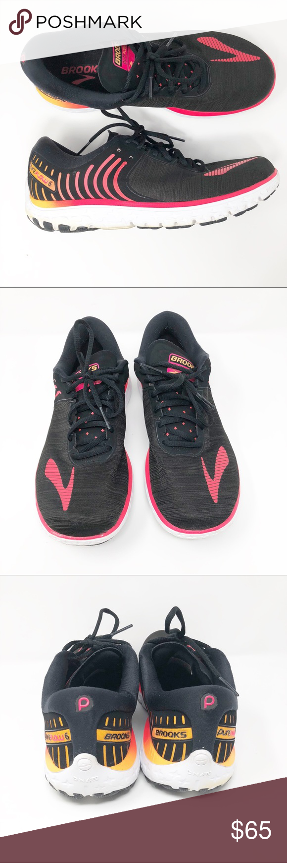 2528afb291c Brooks Pure Flow 6 Women s Road Running Shoes Free your natural stride by  lacing into the sleek performance and smooth