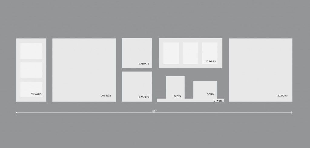 photo wall layout for IKEA Ribba frames - Photo wall | Pinterest ...