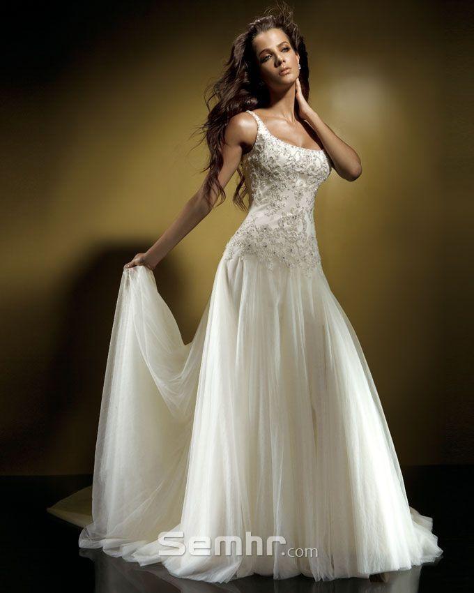 Ballet style wedding gown