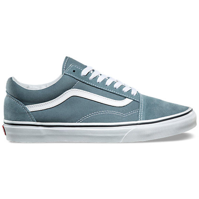vans old skool goblin blue on feet