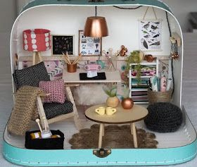 Tales from a happy house.: A Miniature Craft Room in a Suitcase #miniaturerooms