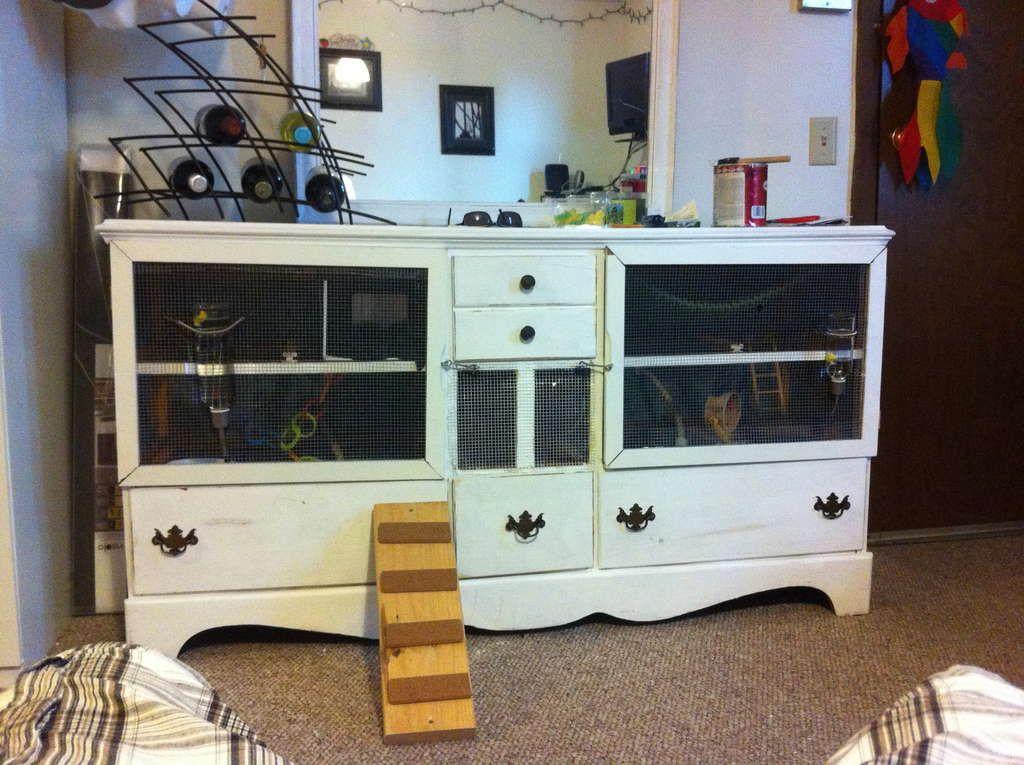 Old Dresser Transformed Into A Rat Condo Frettchen Kaninchen